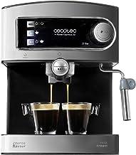 Cecotec Power Espresso 20 - Cafetera, , Inoxidable, depósito 1,5 litros,  850 W, 0 Decibelios, Color acero/negro