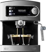 Cecotec Power Espresso 20 - Cafetera, Inoxidable, depósito 1,5 litros,  850 W, Color acero/negro