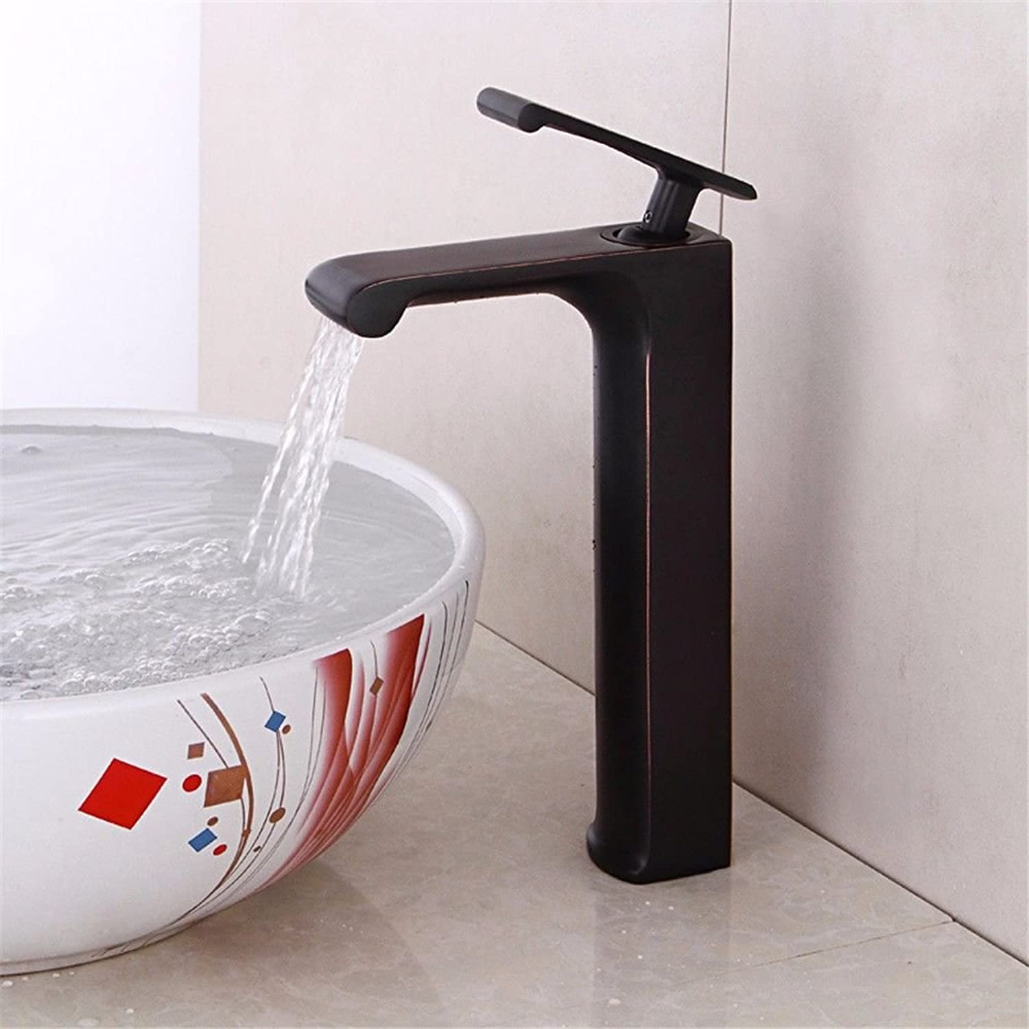 Pengei Tap Basin Mixer Kitchen Sink Mixer Faucet Black Bronze Stage Basin Hand-Drawing