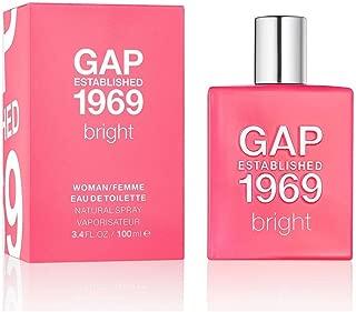 Gap Established 1969 Bright Eau de Toilette Spray for Women, 3.4 Ounce