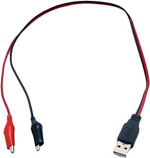 كابلات وموصلات الكمبيوتر - 10 قطع مشبك تمساح إلى ذكر USB اختبار سلك تمساح أسود أحمر كابل اختبار 50 سم