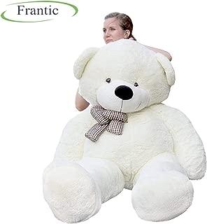 Frantic Premium Quality Soft Plush Teddy Bear White -4 Feet