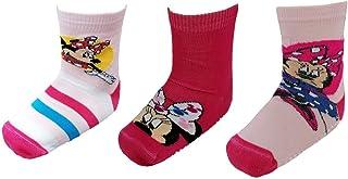 CARTOON GROUP, Calcetines antideslizantes Minnie Mouse Disney de algodón mercerizado 3 pares tallas 19/22 - MIN508477