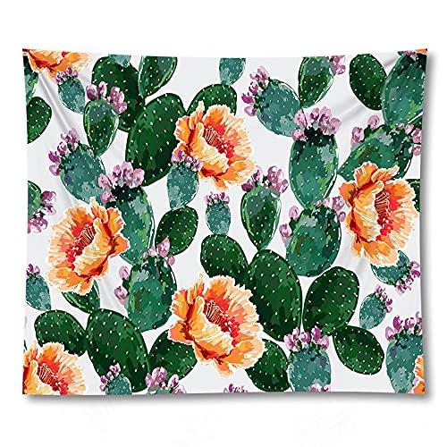 PPOU 3D Cactus Fiore Stampa stuoia di Yoga Wall Art arazzo decorazione Della parete di casa sfondo panno arazzo coperta A4 73x95cm