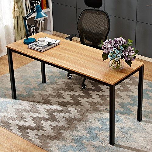 Need 160x60cm Escritorios Mesa de Ordenador Escritorio de Oficina Mesa de Estudio Puesto de Trabajo Mesa de Despacho, Teca Roble Color,AC3BB-160-3