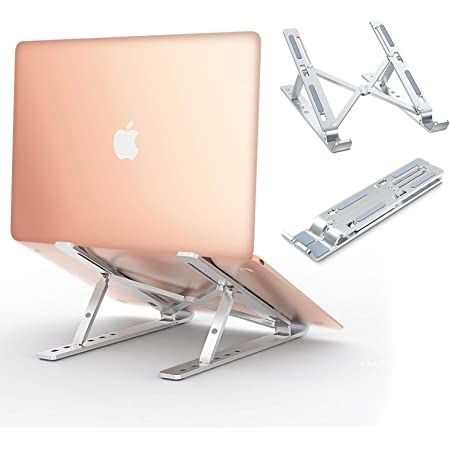 """Babacom Supporto PC Portatile, Alluminio Ventilato Porta Notebook, Raffreddamento Regolabile Porta PC, Leggero Notebook Riser Compatibile con MacBook Air/pro, Huawei Matebook D/Altri 10-15.6"""" Tablet"""