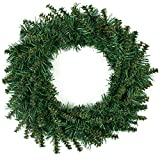 HAKACC 12 Inch Artificial Christmas Wreath with Christmas Spruce for Front Door Decoration and Christmas Party