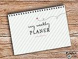 My weekly Planer, Agenda settimanale ad anelli, verde, con fogli DIN A5