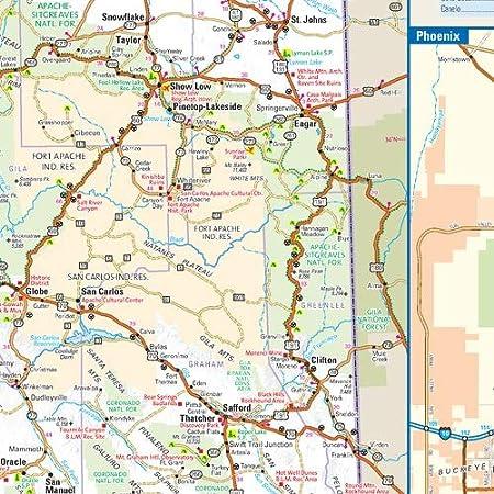 23.75 x 22.5 Laminated Arizona State Wall Map