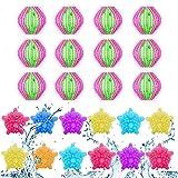 Waschbälle,Waschmaschine Ball,Wäschekugel flusenfreie,Reinigungs Ball,Haustier Haarentferner,Tierhaarentferner Waschmaschine,Fusselbälle Waschkugel,Tierhaarentferner Haarentfernung 24PCS (Rot grün)
