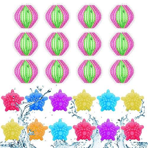 Waschbälle,Waschmaschine Ball,Wäschekugel flusenfreie,Reinigungs Ball,Haustier Haarentferner,Tierhaarentferner Waschmaschine,Fusselbälle Waschkugel,Tierhaarentferner Haarentfernung (Rot grün-B)