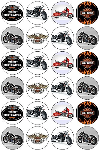 24Harley Davison Motorrad Essbare Oblaten