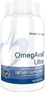Designs for Health OmegAvail Ultra TG Fish Oil 1200mg - 1000 IU Vitamin D3, Vitamins K1 + K2 - Triglyceride Form Omega 3 F...