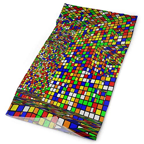 NHUXAYH Unisex Rubik'S Cube Bufanda variada con impresión a Doble Cara Diademas Bandana Diadema mágica Bandana sin Costuras elástica Headwear Head Bufanda