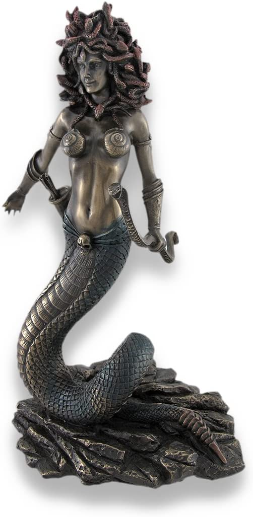 Veronese Design Limited time cheap sale Bronzed Detroit Mall Medusa with Bow Snake and Double Arrows