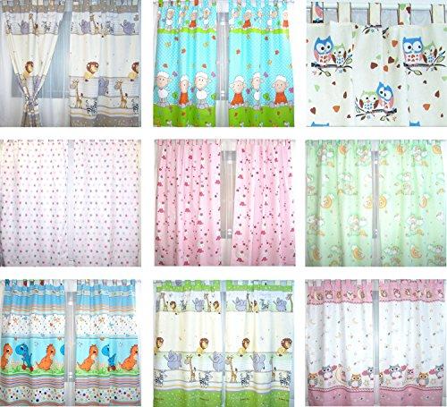 Baby Kinder Vorhänge mit Schlaufen für Kinderzimmer D25
