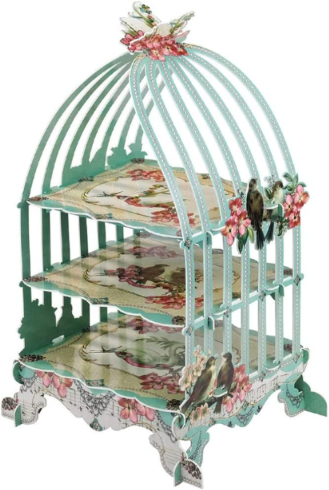 STOBOK Birdcage Cake Stand 3 Layers Holder Weddi Don't miss the campaign Cupcake Display Portland Mall