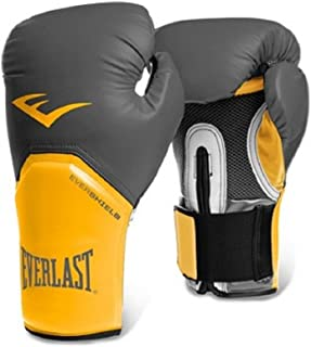 Everlast Pro Style Training Gloves, Grey/Orange, 14-Ounce