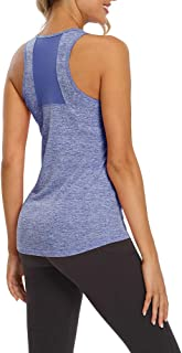Mippo Women's Sexy Backless Workout Yoga Shirt Spaghetti Strap Mesh Cami Tank Top