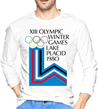 EIYIDSO Lake Placid 1980 Winter Olympics Men`s Long Sleeve T-Shirts