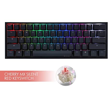 Ducky ONE 2 Mini Gaming、MX-Silent Red、RGB-LED、ブラック