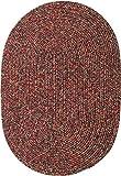Sabrina Tweed Indoor/Outdoor Oval Braided Rug, 2 by 3-Feet, Sangria