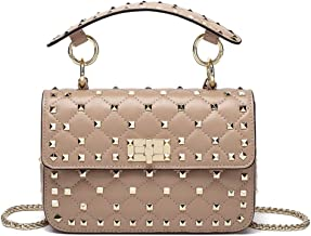 Yoome Women Punk Style Rivets Shoulder Bag Ladies PU Leather Cross Body Messenger Bag