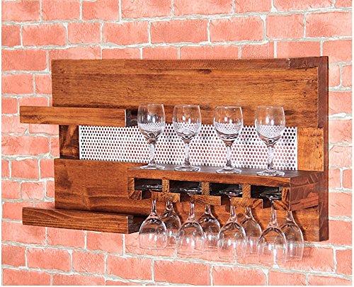 TRRE@ Scaffali a Sospensione Ristorante Retro cremagliere in Vetro di Vino Portacenere da Birra Portabiciclette Mensole da Muro