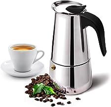 Stovetop Espresso Maker with Classic and Rich Brews Moka Pot, Cuban Coffee Maker Stove top Espresso Shot Maker for Espress...