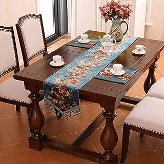 Accueil Linge De Table Chemin De Table Multize Taille Jacquard Flowers Table Fringe Runner Home Table Couverture Décorativ...