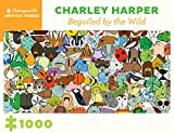 """Pomegranate Charley Harper Beguiled by the Wild 1000-Piece Jigsaw Puzzle 32""""X16"""""""