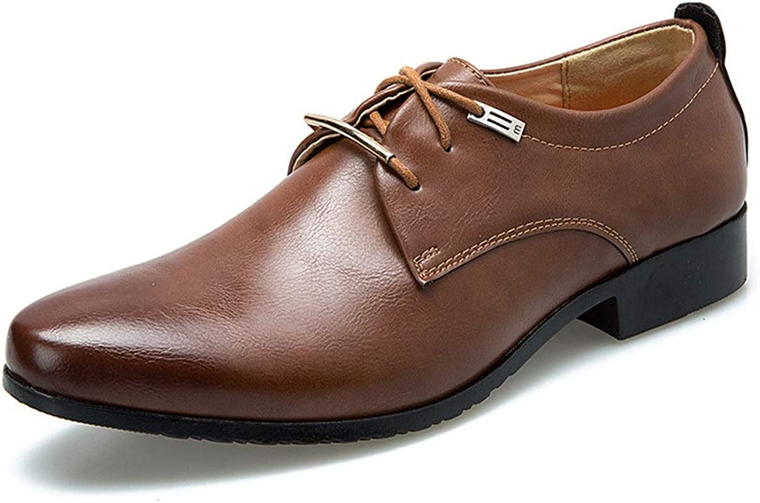 Business Men's England Leather shoes With Casual shoes Cricket shoes (color   Brown, Size   42)