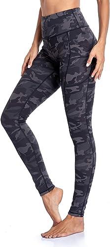 Occffy Legging de Sport Femme Pantalon de Yoga avec Poches Yoga Fitness Gym Jogging Taille Haute Leggings pour Femmes...