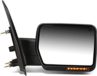 For Ford F150 Black Powered Heated Glass + Turn Signal Light Side Towing Mirror (Right/Passenger)