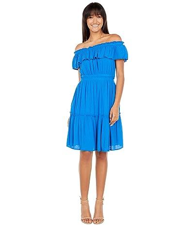 Tommy Bahama Caicos Crinkle Off-the-Shoulder Short Dress