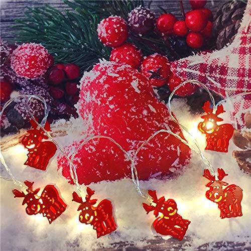 Las Luces Decorativas De Las Linternas De Las Luces Que Destellan Las Luces De Navidad Elk Creativa De La Sala De La Decoración LED Luces De Cadena Del Árbol De Navidad Disposición De Navidad Luces De