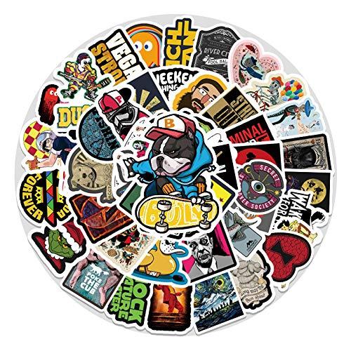 WYZNB 50 unids Trend Personality etiqueta engomada de la decoración del coche del ordenador portátil graffiti Cartoon vinilo impermeable