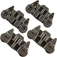4 Packs W10195416 UPGRADED Dishwasher Wheels Lower Rack W10195416V For..