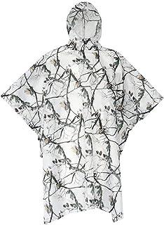 XUE Multifunction Emergency Rain Poncho Waterproof Reusable Ripstop Rain Cape Lightweight Snow Camouflage Slicker Rainwear...