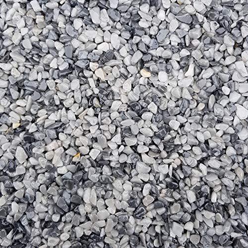 Quarzkies Marmorsplitt Zierkies Quarz Ziersplitt Buntkies Grigio Cenere - 25Kg