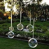 YQYAZL 5 unids 10 cm bola transparente bola de plástico rellenable esfera colgante ornamento para árbol de Navidad decoración del hogar caja de regalo de boda