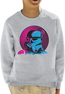 Star Wars Bold Imperial Stormtrooper Death Star Kid's Sweatshirt