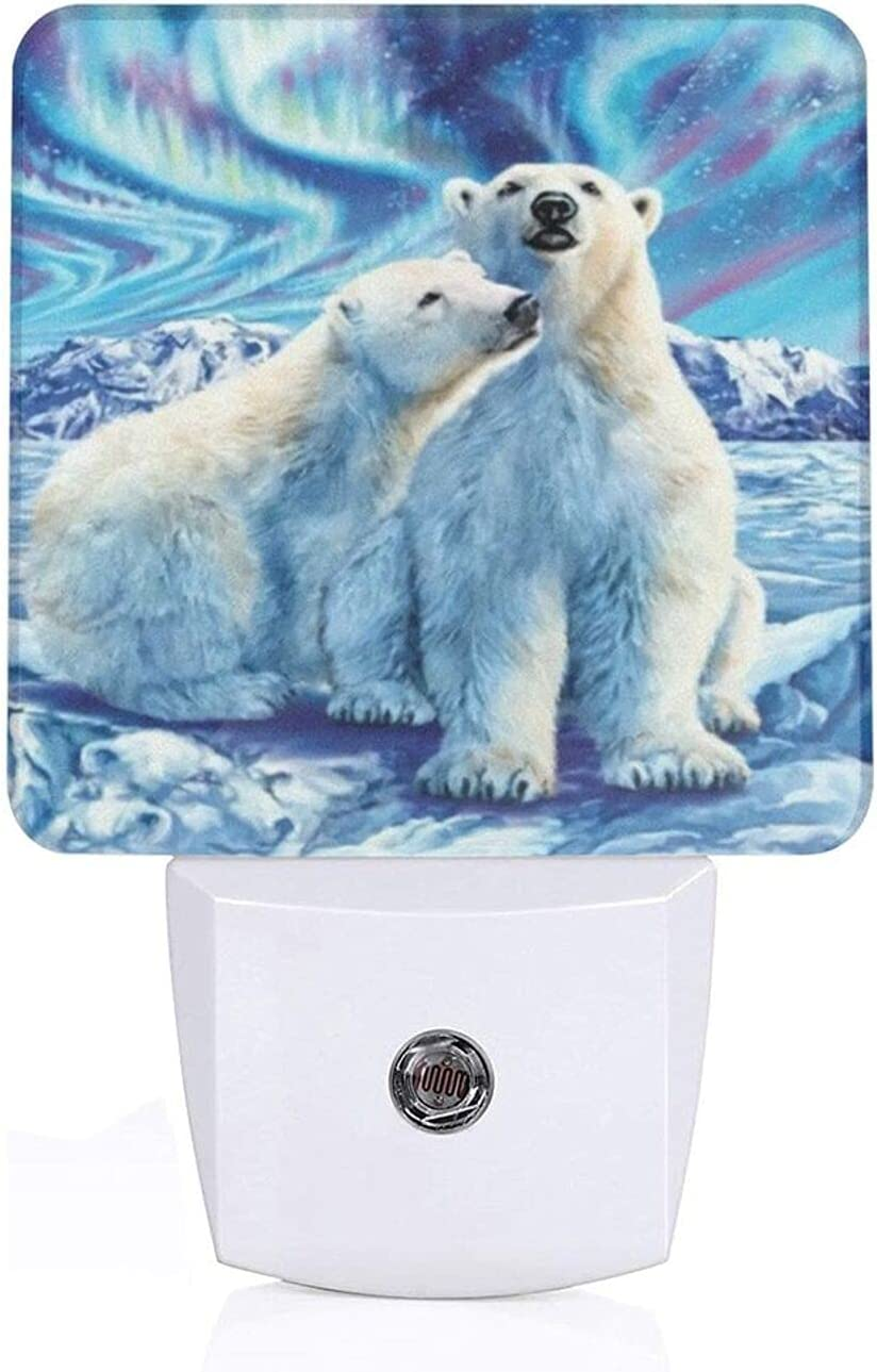 Polar Bear Faith Cross Religious Sale price Outstanding Plug-in with Au Light Night Led