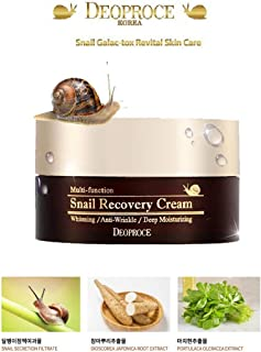 Korean Cosmetics Deoproce Snail Recovery Cream, Snail Mucus Effect, Nutrition for rough skin, Multi functional Cream, Whitening, Anti wrinkle, Deep moisturizing (Snail Recovery Cream)