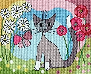 lazy daisy cross stitch