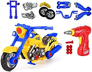 CoolToys Custom Take-A-Part Motorcycle Playset – Motorcycle with Electric Play Drill and Modification Pieces