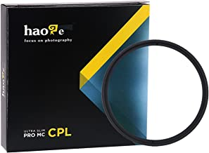 Haoge 58mm MC CPL Multicoated Circular Polarizer Polarizing Lens Filter for Canon 800D 700D 200D 1300D 60D with EF-S 18-55mm f4-5.6 is, 55-250mm F4-5.6 is Lens