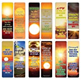 Creanoso Be Strong Inspirational Sayings Sun Bookmark Cards (30-Pack) – Premium Gifts Bookmarks for Bookworm – Stocking Stuffers for Men, Women, Teen, Bookworms – Office Supplies – DIY Kit