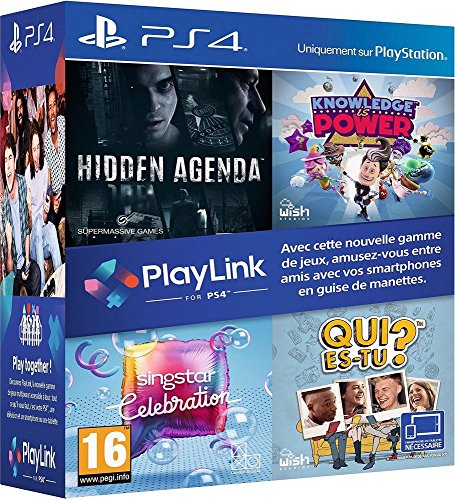 Pack Jeux PlayLink PS4: Qui es tu ? + Knowledge is Power + SingStar Celebration + Hidden Agenda - PlayStation 4 [Importación francesa]