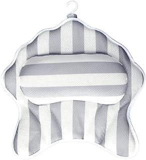 バスタブ枕 エクストラ太いプレミアムバス枕ラグジュアリーノンスリップホワイトバスマット バスタブとスパ枕 (色 : グレー)
